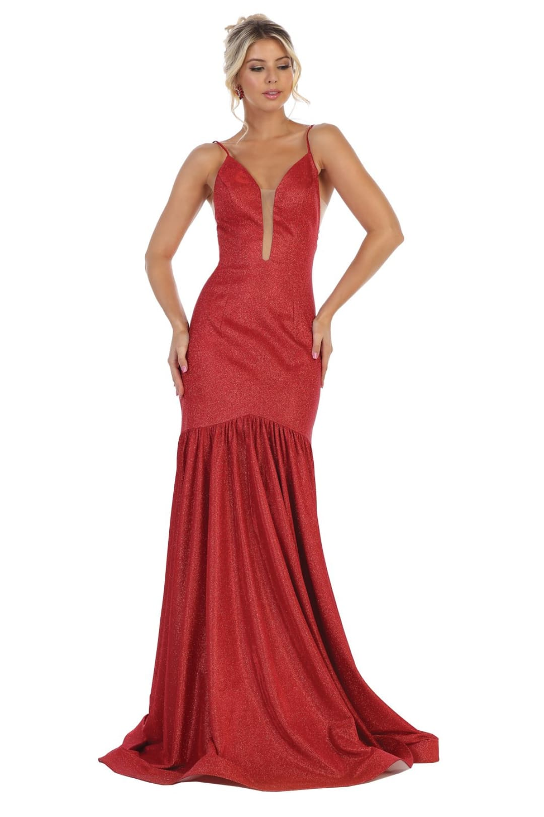 Prom Evening Gown - Red / 4