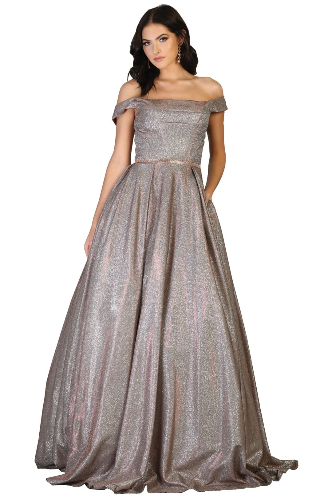 Prom Formal Dresses And Plus Size - BRONZE / 4