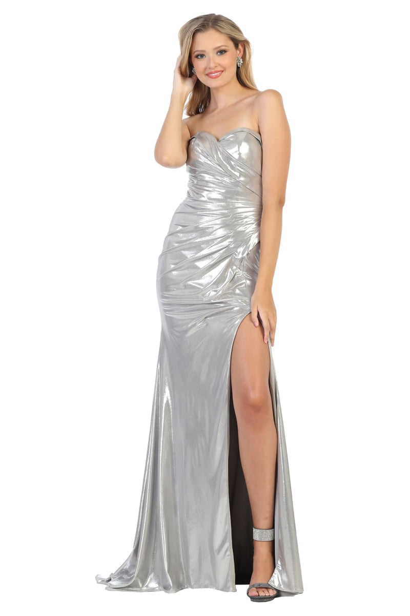 Prom Metallic Long Dresses
