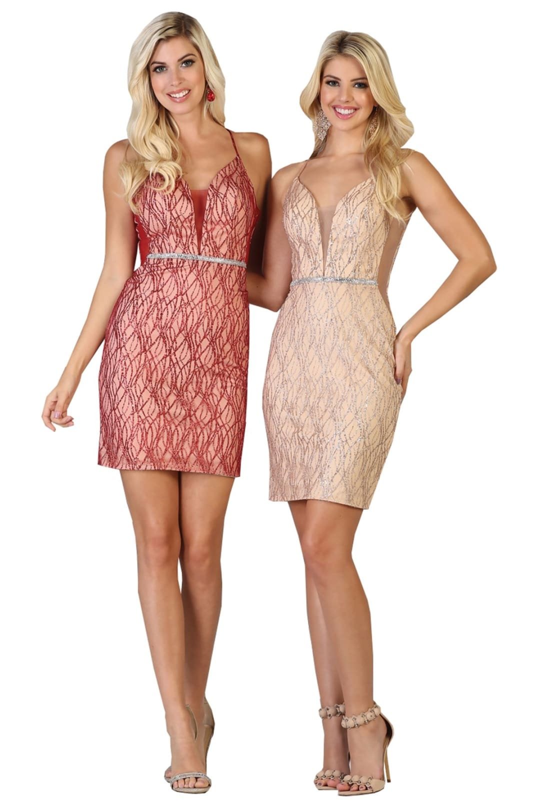 Radiant Prom Dress - Blush/Nude / 4