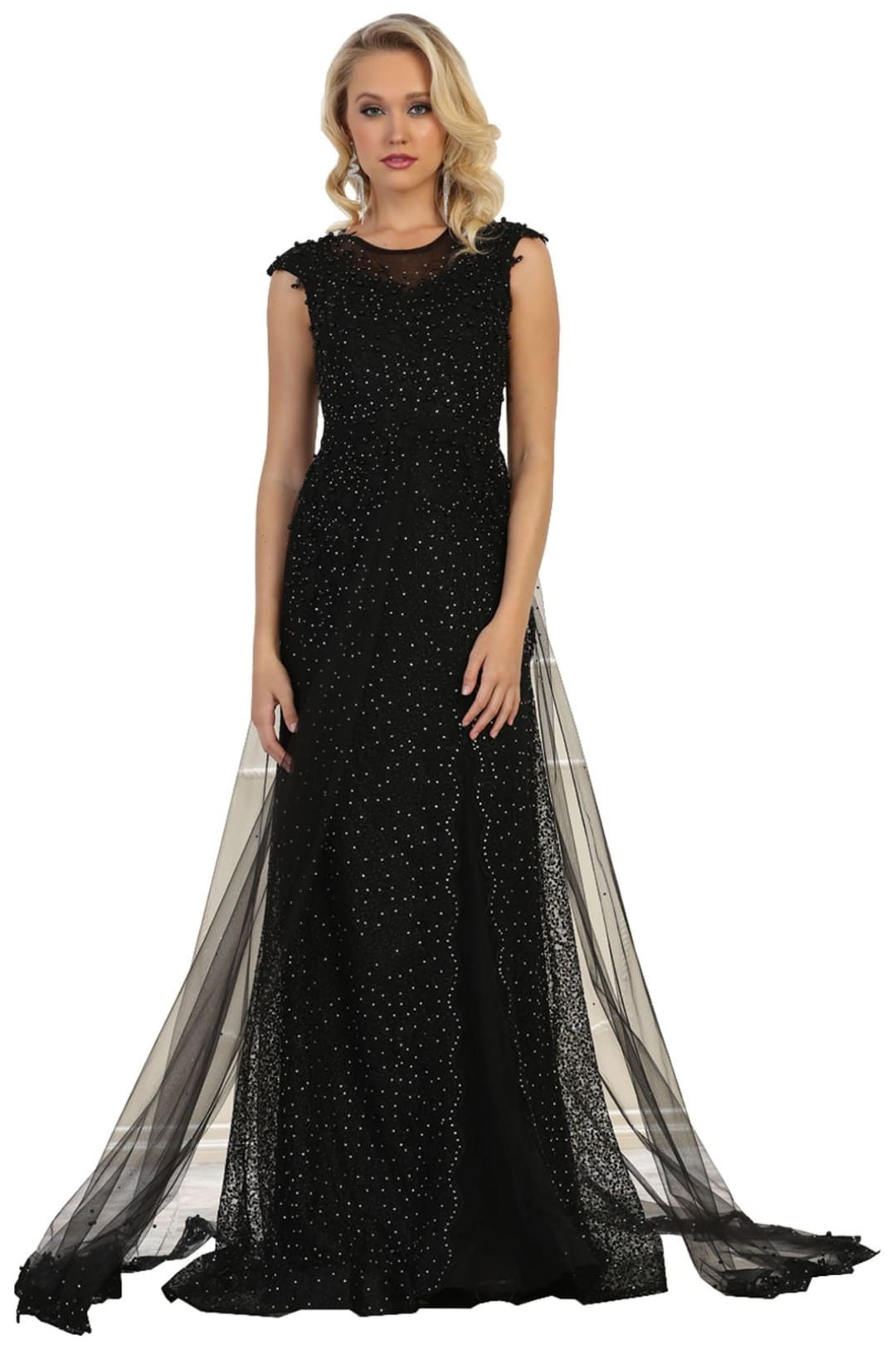 Red Carpet Evening Gown - Black / 4