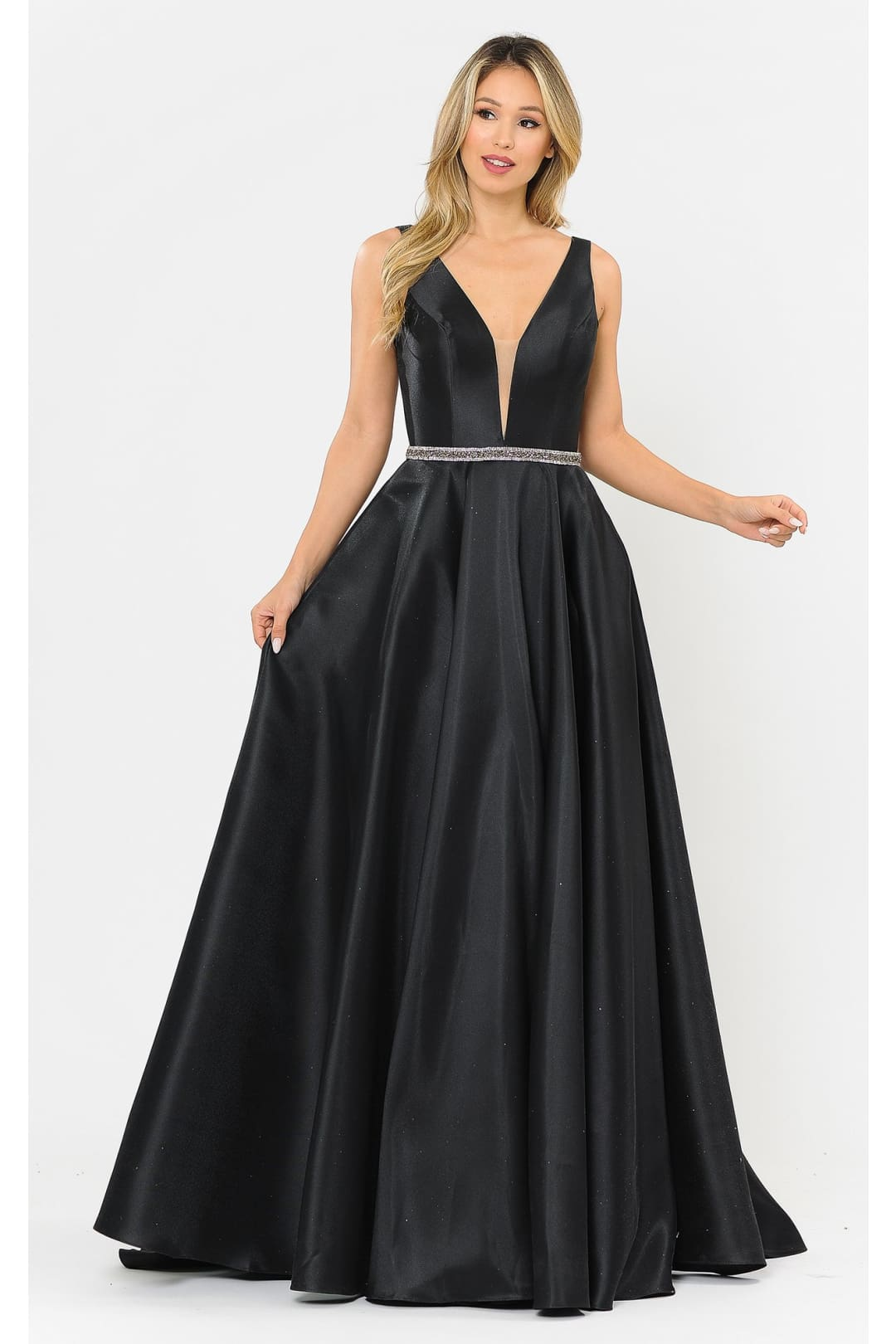 Red Carpet Formal Long Dress - BLACK / XS