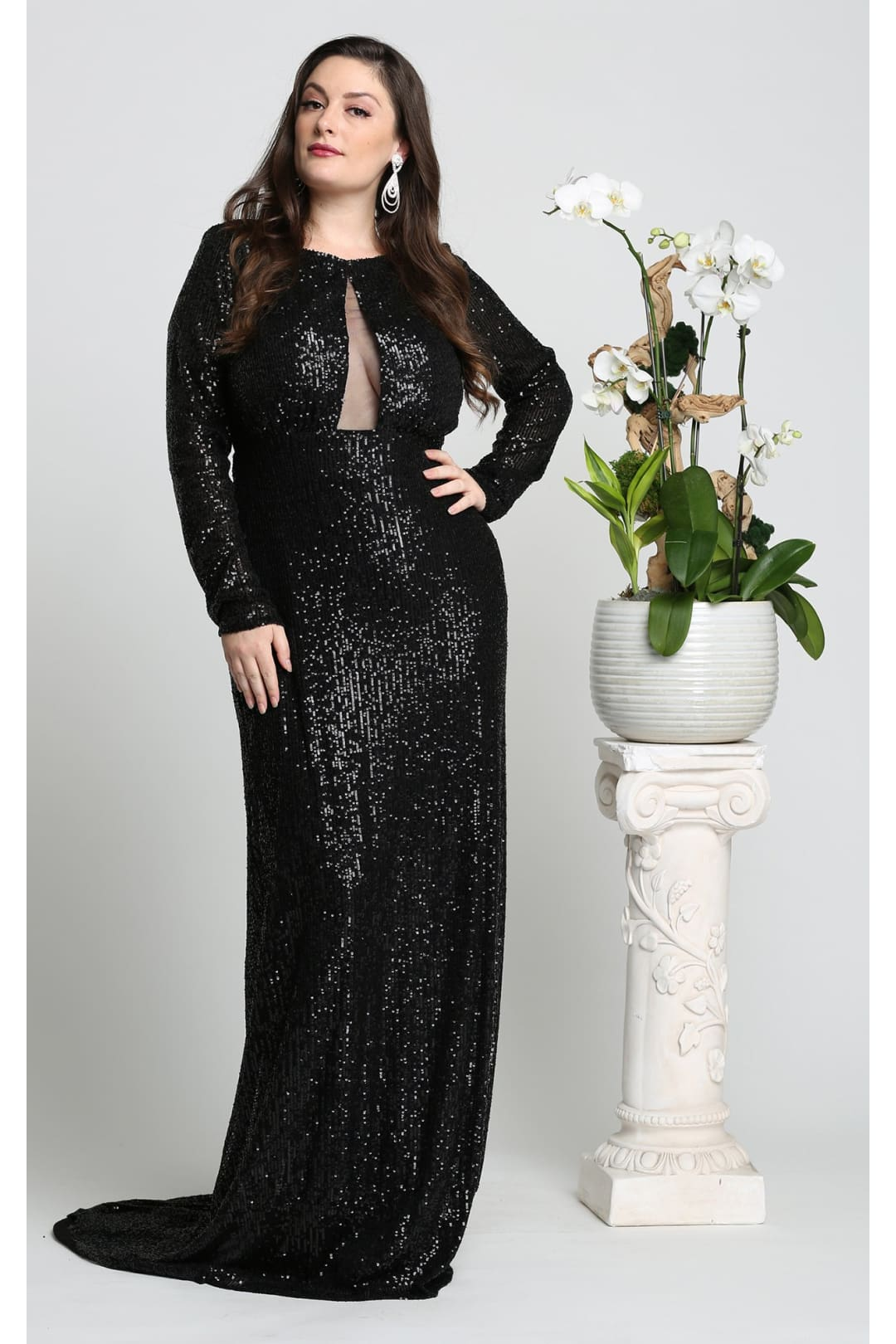 Red Carpet Sequined Formal Dress