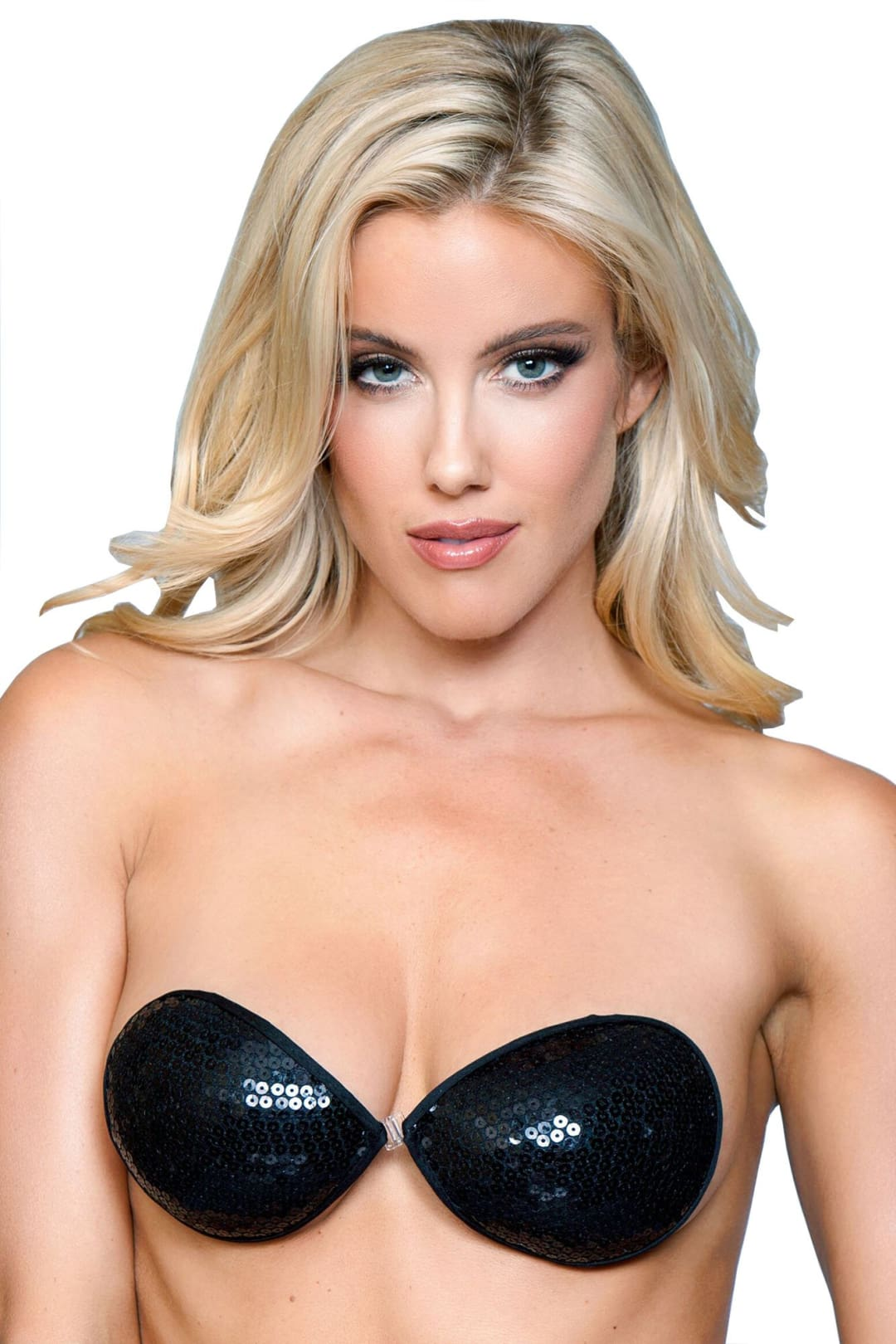 Sequins Backless Bra - Black / A - Accessories