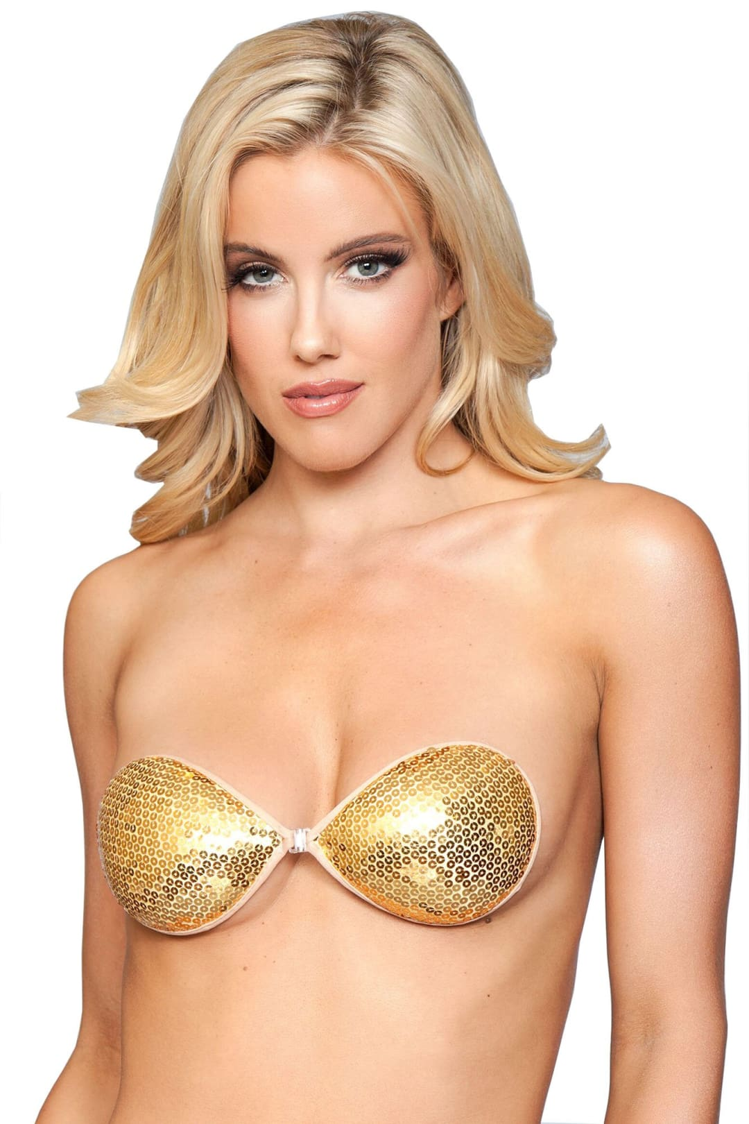 Sequins Backless Bra - Silver / A - Accessories