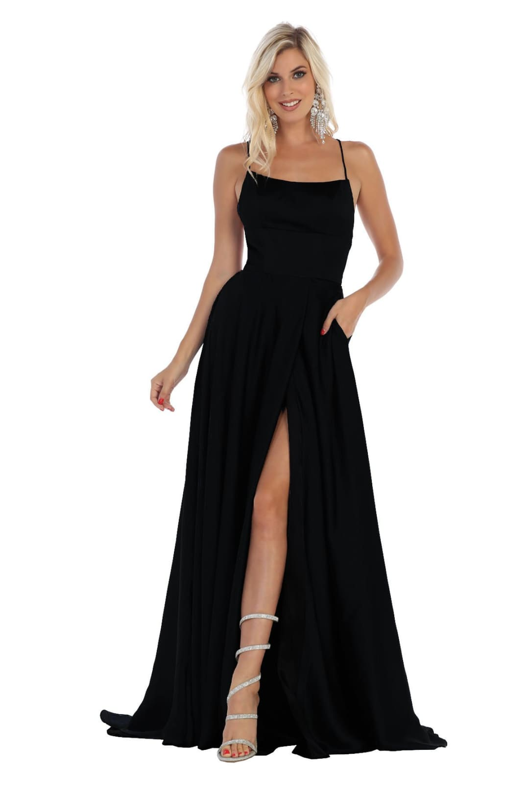 Sexy High Slit Dress - Black / 2