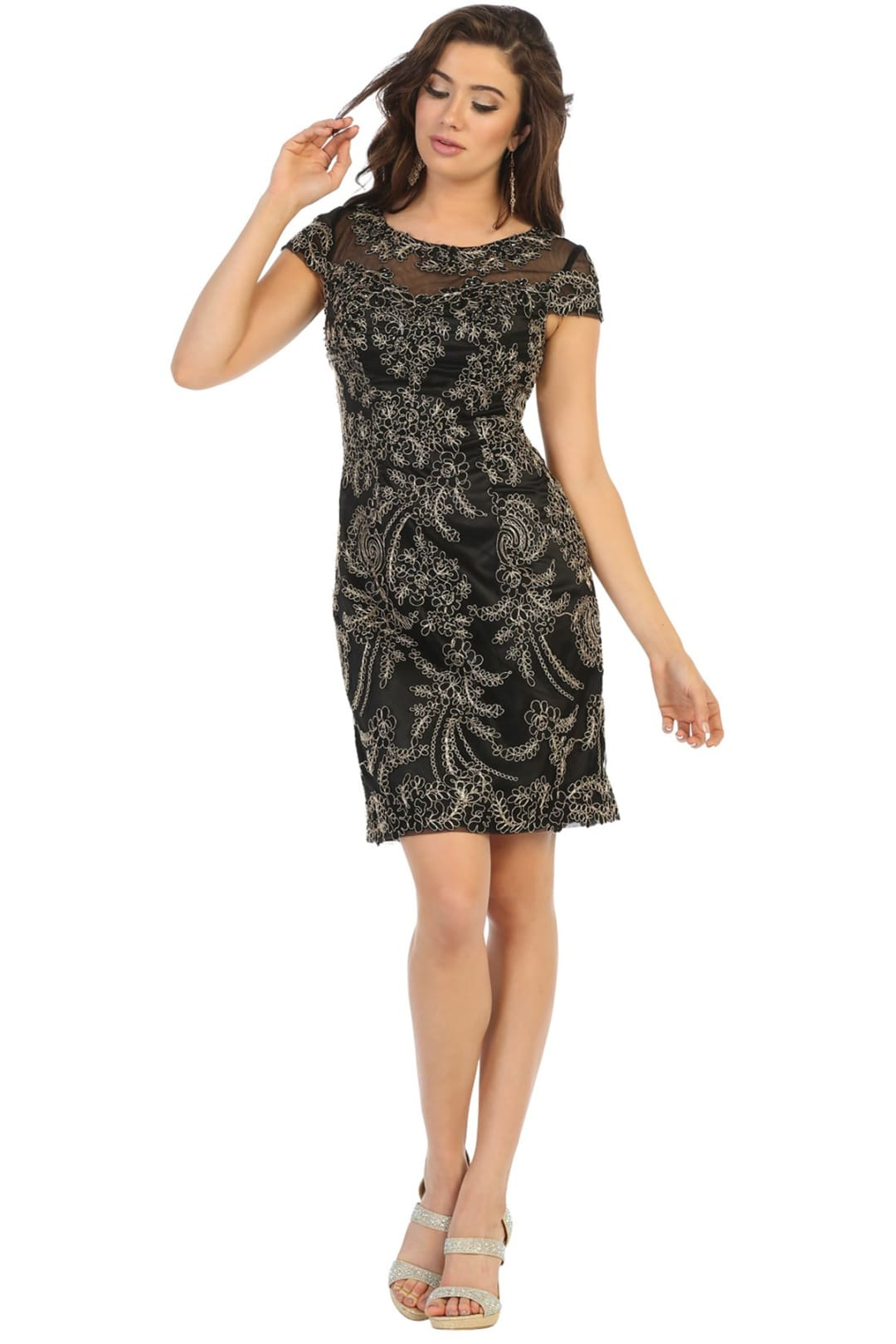 Short Cocktail Party Dress - Black / M