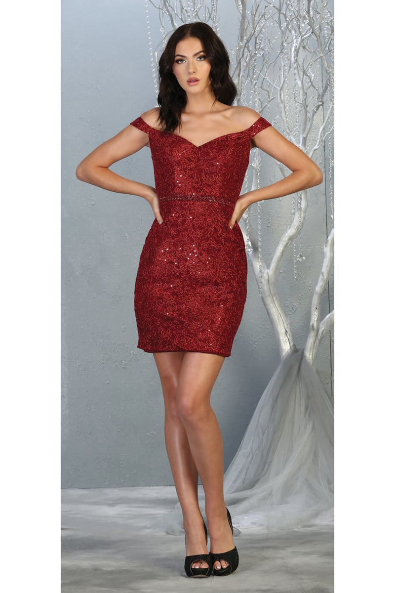 Short Embriodered Semi formal Dress And Plus Size