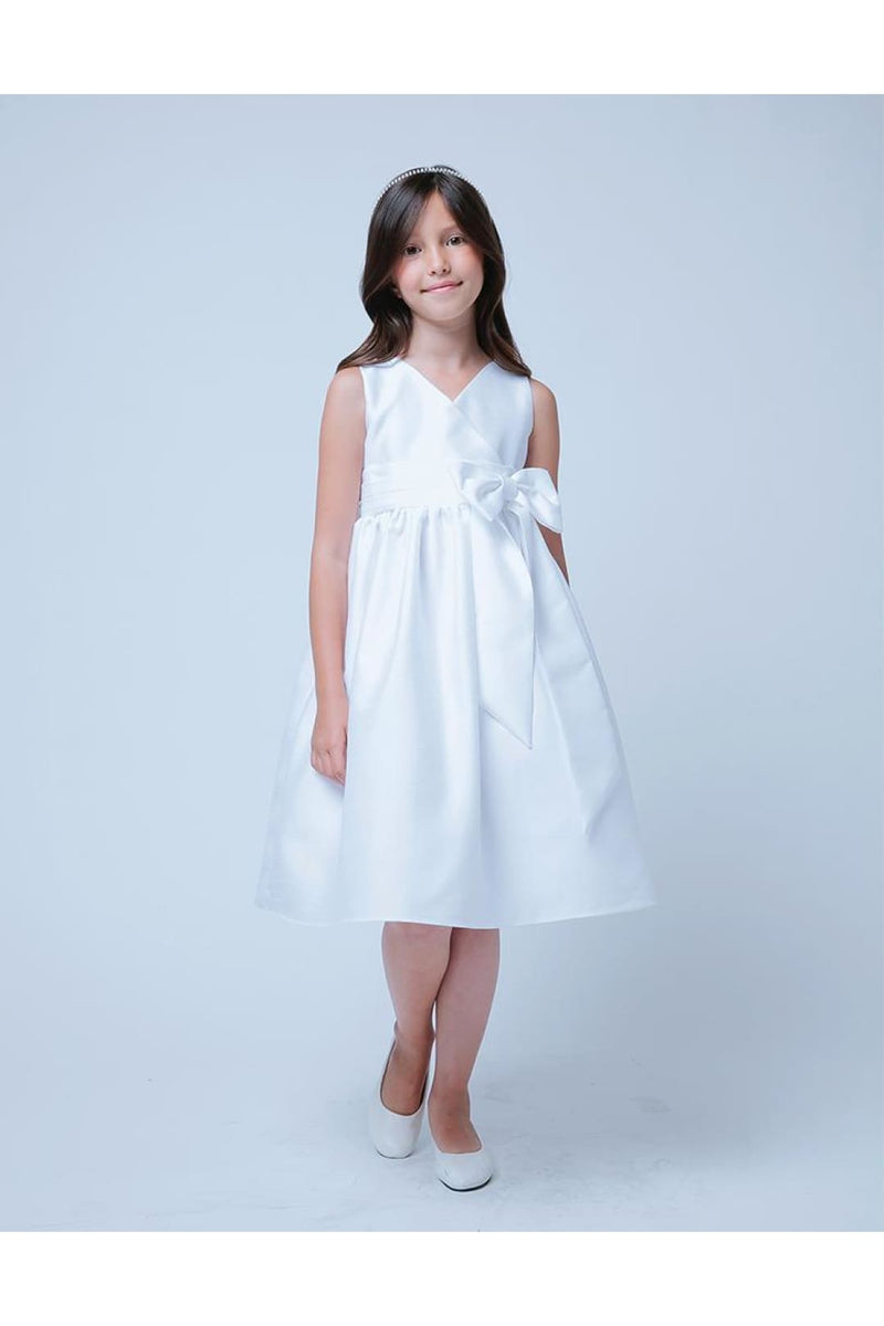 Simple And classy special occasion Kids Dresses - LAK543 - WHITE / S