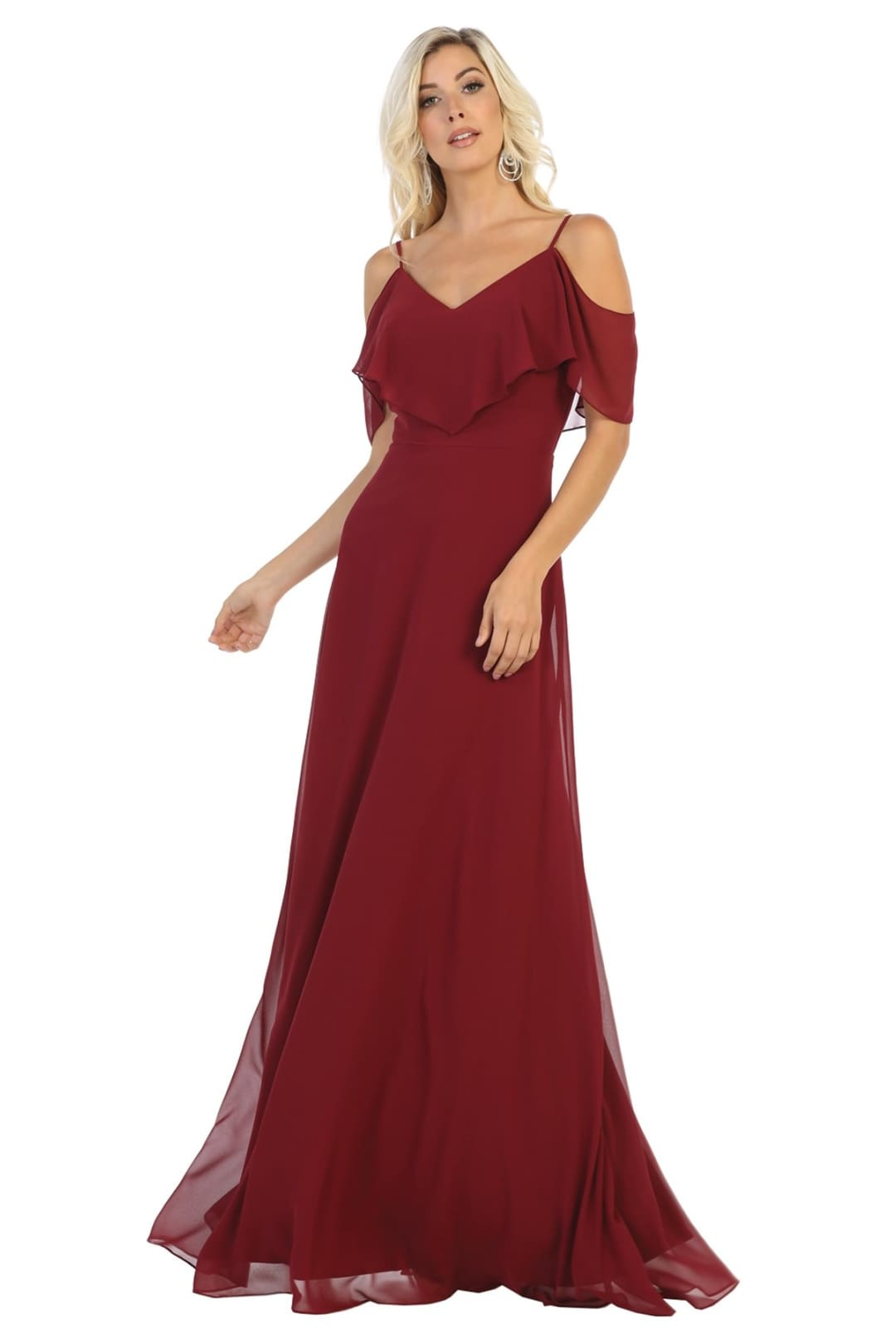 Simple & Elegant Dress - Burgundy / 4