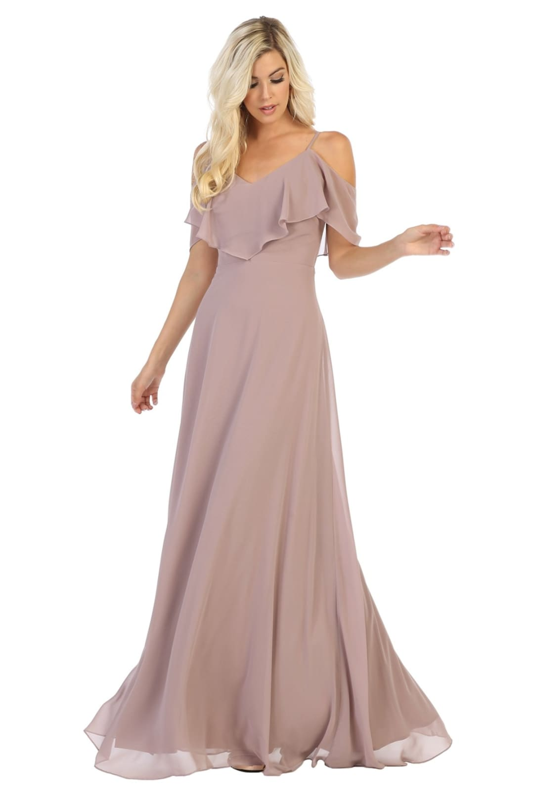 Simple & Elegant Dress - Mauve / 4