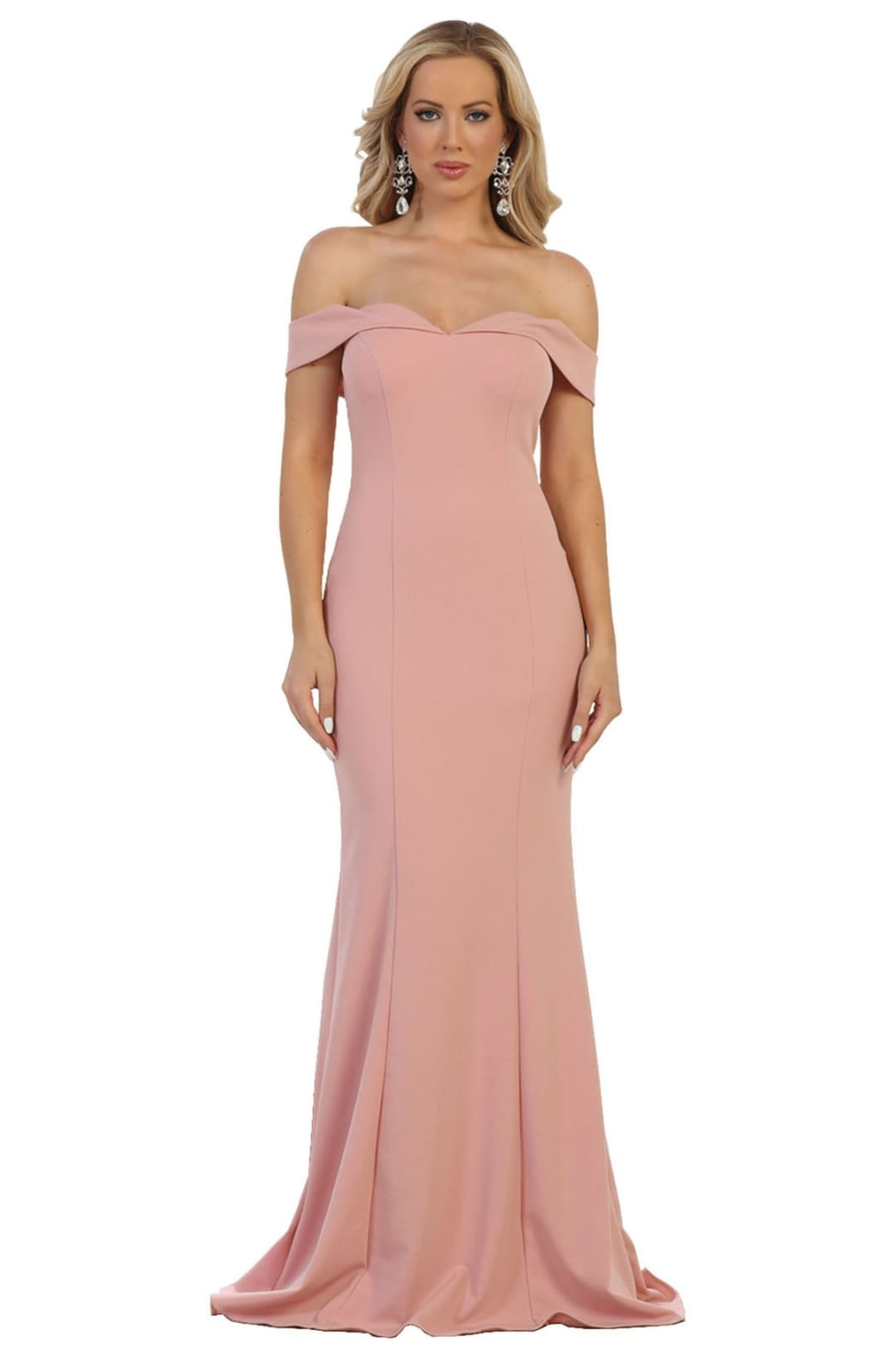 Simple Prom Designer Gown - Dusty Rose / 8