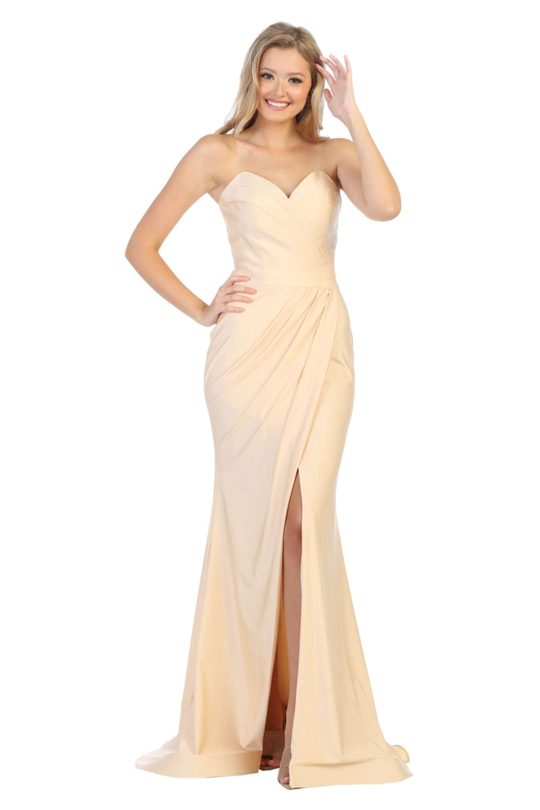 Simple Prom Dresses - CHAMPAGNE / 4