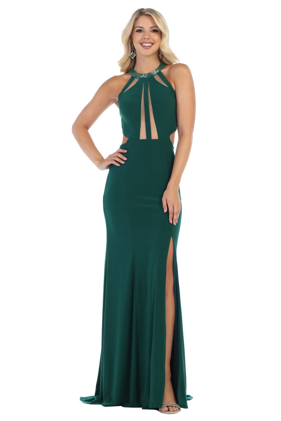 Simple Sexy Red Carpet Gown - Hunter Green / 2