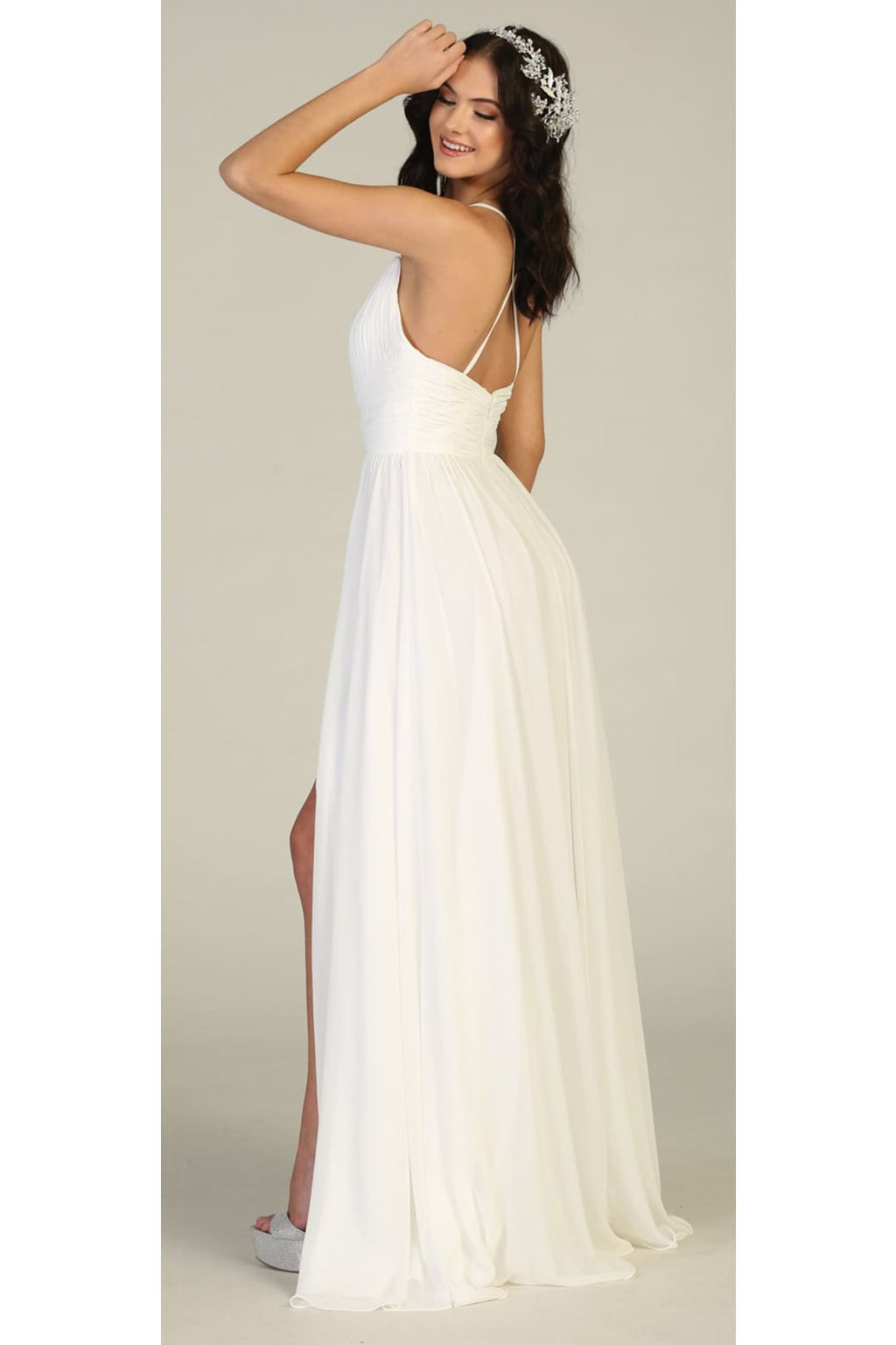 Simple Wedding Long Gown