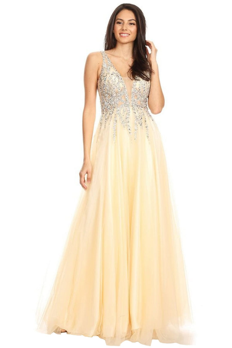 Special Occasion Dresses - CHAMPAGNE / 4