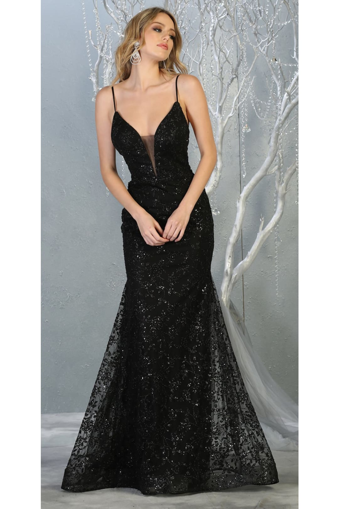 Special Occasion Formal Evening Gown - BLACK / 4