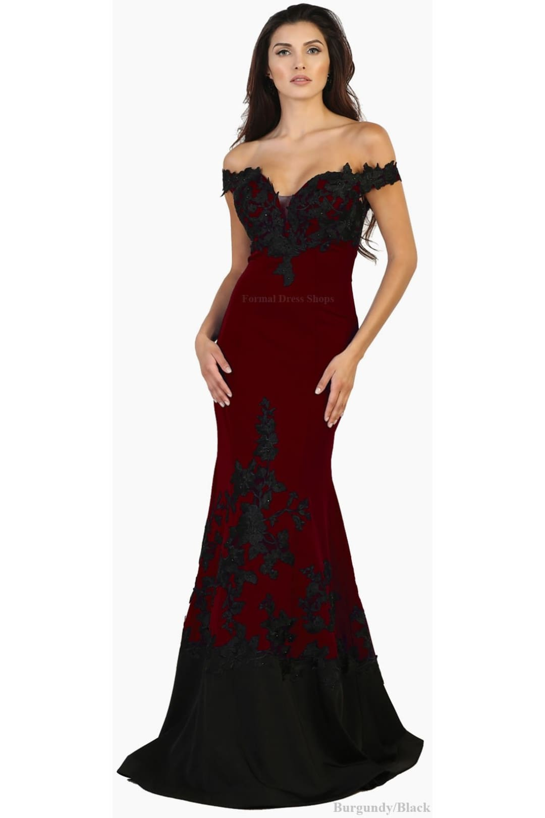 Stretchy Mermaid Gown - Burgundy / 4