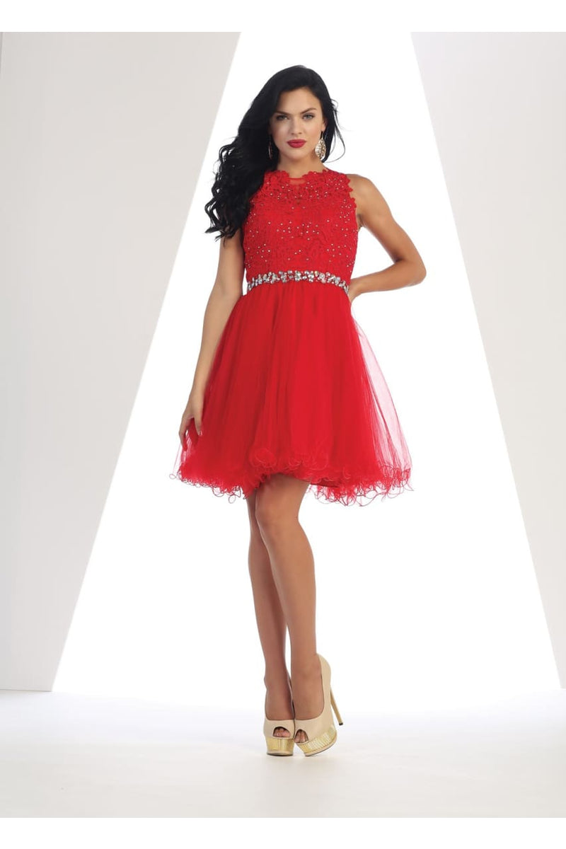 Stunning Cocktail Dress - Red / 12