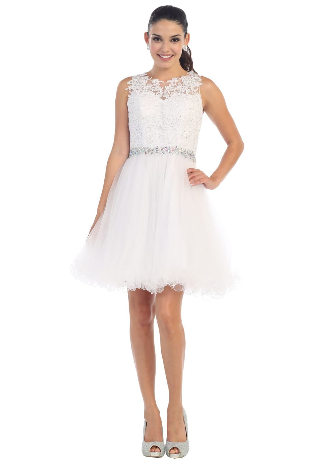 Stunning Cocktail Dress - White / 10
