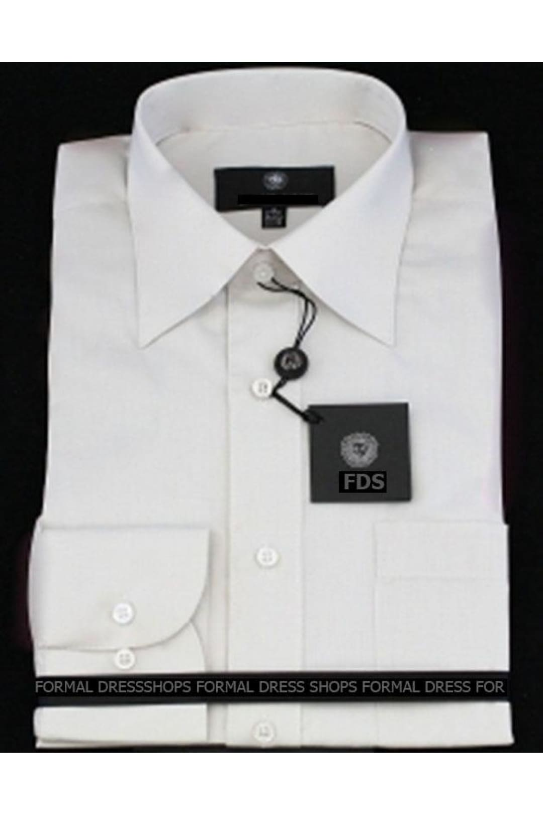 White Long Sleeve Mens Dress Shirt - 20/20.5 36/37