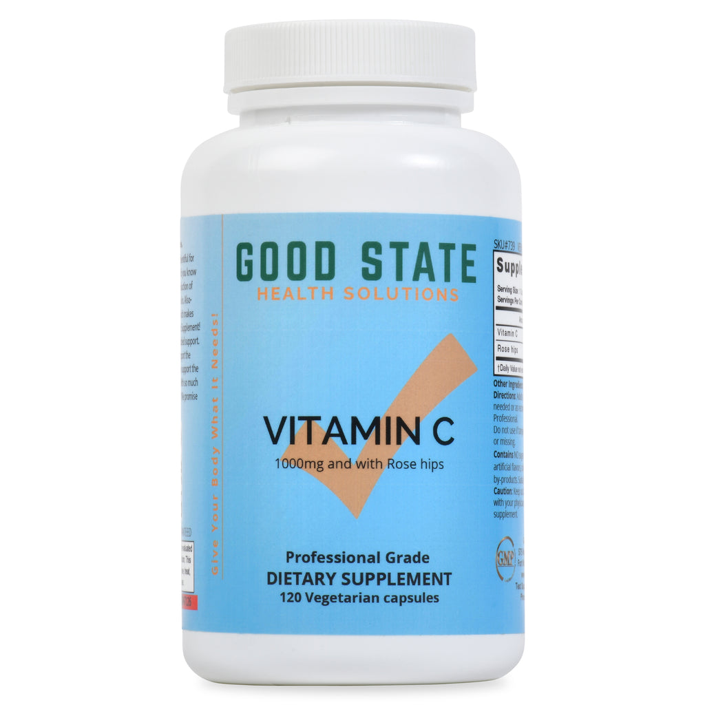 Vitamin C with Rose Hips | Vegetarian | 1000mg Vit C