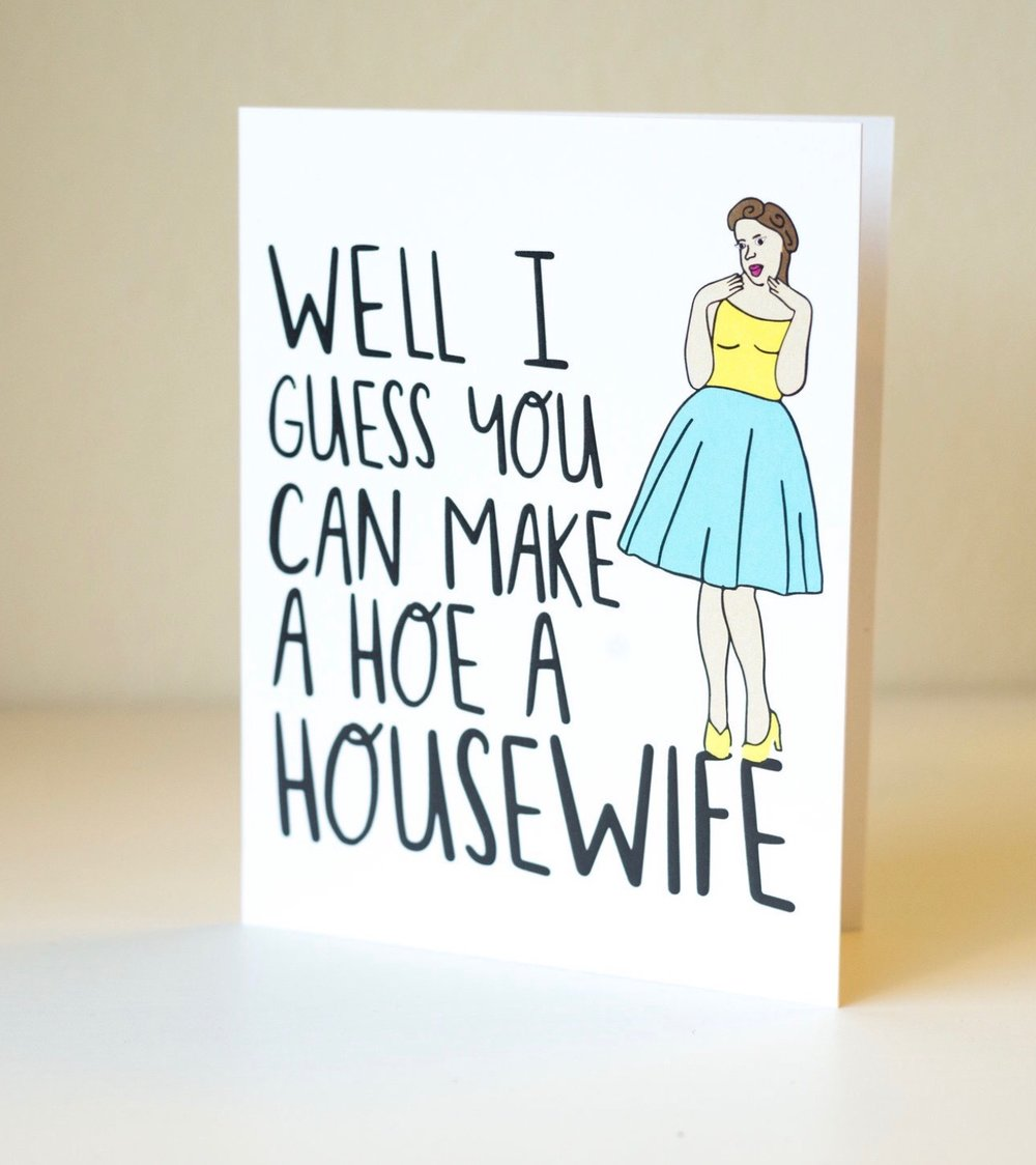 Housewife Greeting Card