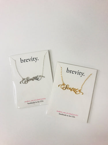 Brevity Seattle Necklace