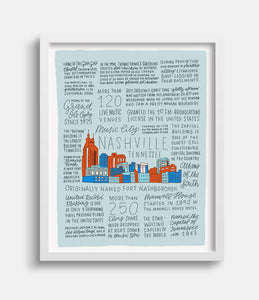 "The History of Nashville - 11x14"" Art Print"