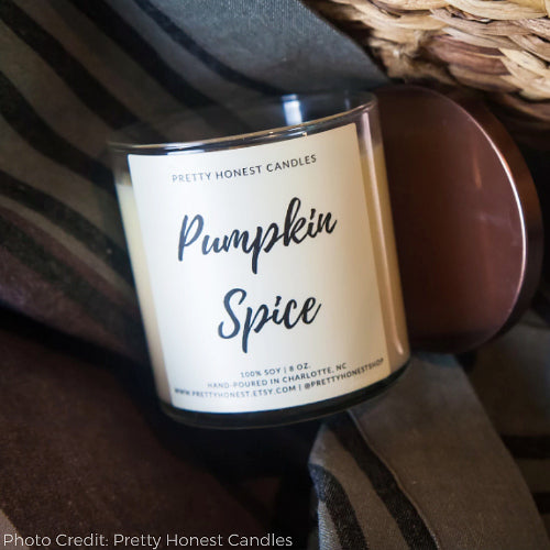 Pumpkin Spice Artisan Candle - Seasonal Favorite!