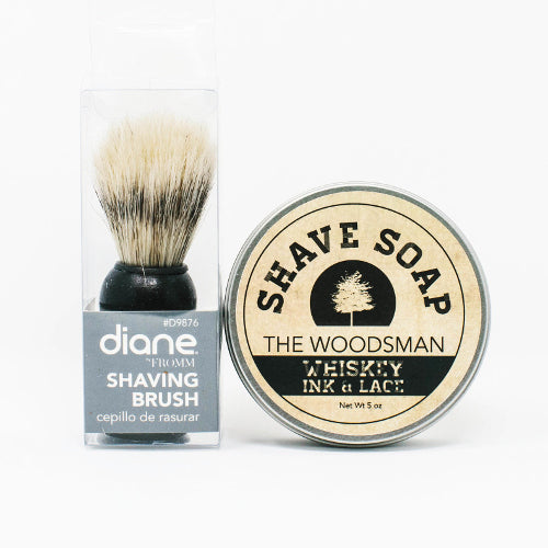 """The Woodsman"" Artisan Shave Soap + Shave Brush"