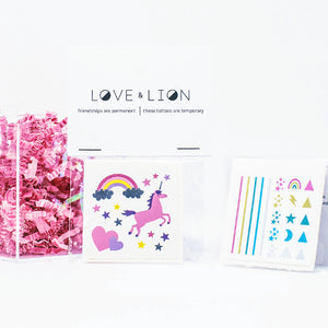 Unicorn Temporary Tattoos + Rainbow Nail Decals