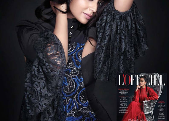 Shriya Saran wears Anaikka for L'Officiel India