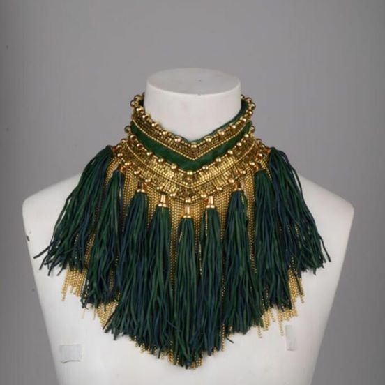 Anaikka Leather Tassel Necklace