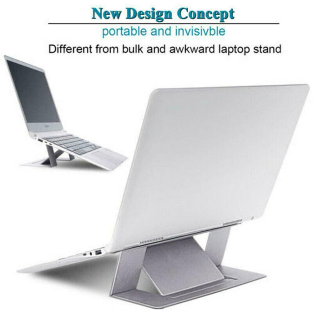 New Black Adjustable Invisible Portable Folding Laptop Stand for MacBook Pro//Air