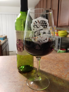 Huflepuff Inspired Wine Glass