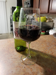 Hogwarts Crest Inspired Wine Glass
