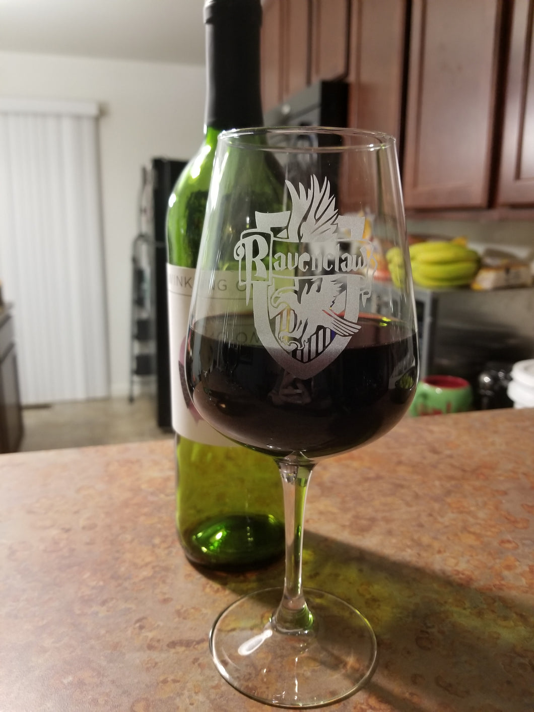 Ravenclaw Inspired Wine Glass