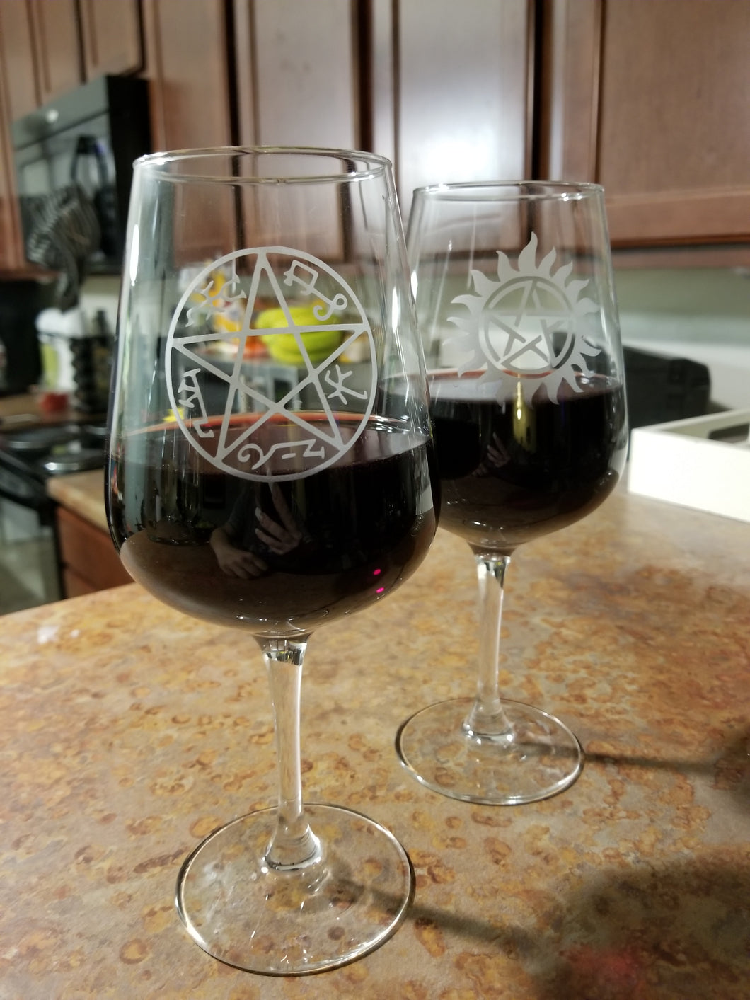 Demon Trap Wine Glass