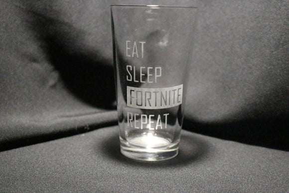 Eat, Sleep, Fortnite, Repeat Pint Glass