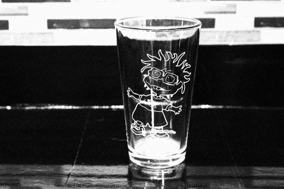 Chucky Rugrats Inspired Pint Glass
