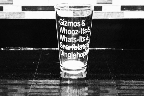 Whosits and Whatsits Ariel Inspired Pint Glass