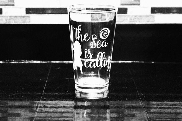 Moana Inspired Pint Glass