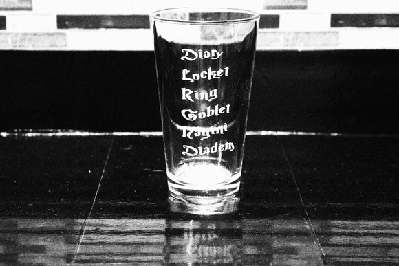 Harry Potter Horcrux Inspired Pint Glass