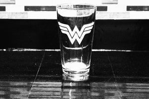 Wonder Woman Inspired Pint Glass