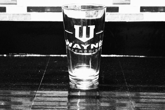 Wayne Enterprises Batman Inspired Pint Glass