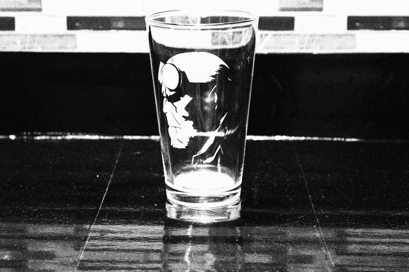 Hellboy Inspired Pint Glass