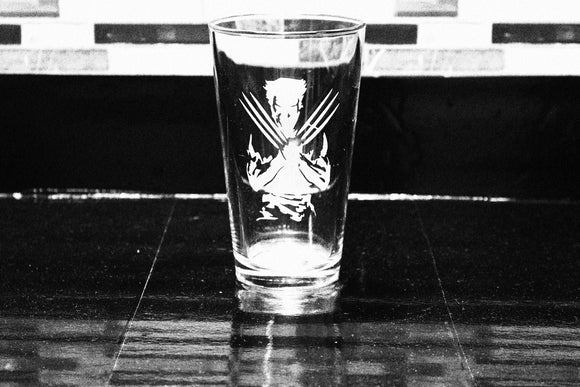 Wolverine Inspired Pint Glass