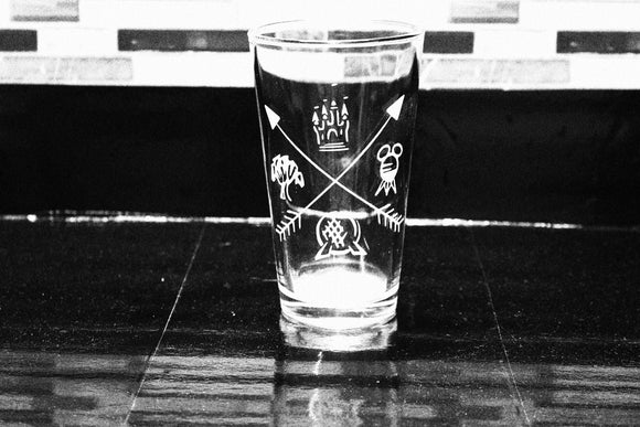 Boho  Parks Inspired Pint Glass