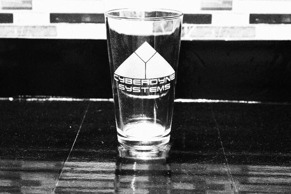 Cyberdyne Terminator Skynet Inspired  Pint Glass